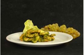 Salade grosses crevettes marinées